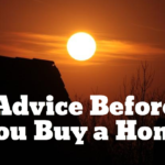 Advice Before You Buy a Home